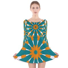 Tangerinerina Teliana Long Sleeve Velvet Skater Dress by CircusValleyMall
