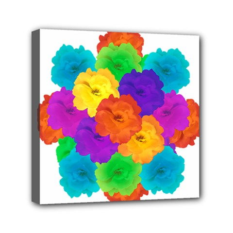 Flowes Collage Ornament Mini Canvas 6  X 6  by dflcprints