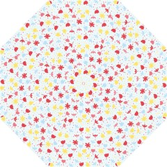 Seamless Colorful Flowers Pattern Golf Umbrellas