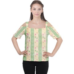 Seamless Colorful Dotted Pattern Women s Cutout Shoulder Tee by TastefulDesigns