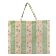 Seamless Colorful Dotted Pattern Zipper Large Tote Bag by TastefulDesigns