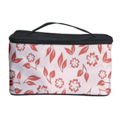 Red Seamless Floral Pattern Cosmetic Storage Cases by TastefulDesigns