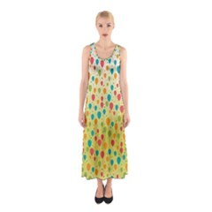 Colorful Balloons Backlground Full Print Maxi Dress by TastefulDesigns