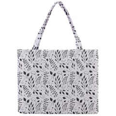 Hand Painted Floral Pattern Mini Tote Bag