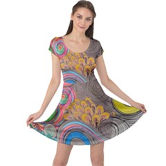 Rainbow Passion Cap Sleeve Dresses by SugaPlumsEmporium