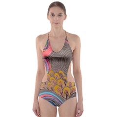 Rainbow Passion Cut Out One Piece Swimsuit by SugaPlumsEmporium