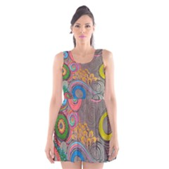 Rainbow Passion Scoop Neck Skater Dress by SugaPlumsEmporium
