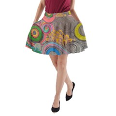 Rainbow Passion A Line Pocket Skirt