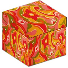 60s Flower Power  Storage Stool 12   by TCH01