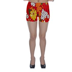 Flower Power Skinny Shorts by TCH01