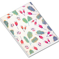 Hand Drawn Flowers Background Large Memo Pads