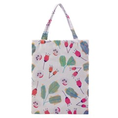 Hand Drawn Flowers Background Classic Tote Bag by TastefulDesigns