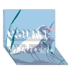 Egret You Are Invited 3d Greeting Card (7x5)