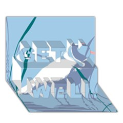 Egret Get Well 3d Greeting Card (7x5)  by WaltCurleeArt