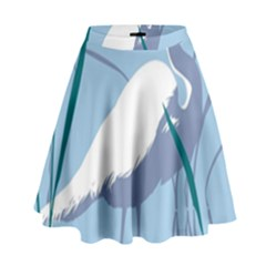 Egret High Waist Skirt by WaltCurleeArt