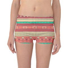 Hand Drawn Ethnic Shapes Pattern Boyleg Bikini Bottoms