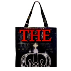 The King Zipper Grocery Tote Bag by SugaPlumsEmporium