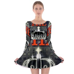 The King Long Sleeve Skater Dress by SugaPlumsEmporium
