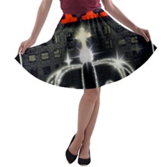 The King A Line Skater Skirt by SugaPlumsEmporium