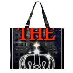 The King Zipper Large Tote Bag by SugaPlumsEmporium