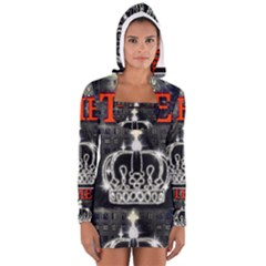 The King Women s Long Sleeve Hooded T Shirt by SugaPlumsEmporium