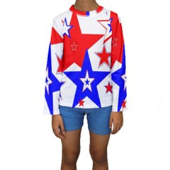 The Patriot 2 Kid s Long Sleeve Swimwear by SugaPlumsEmporium