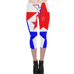 The Patriot 2 Capri Leggings  by SugaPlumsEmporium