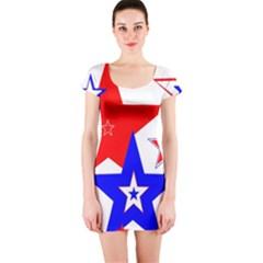 The Patriot 2 Short Sleeve Bodycon Dress by SugaPlumsEmporium