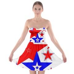 The Patriot 2 Strapless Dresses by SugaPlumsEmporium