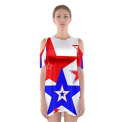 The Patriot 2 Cutout Shoulder Dress by SugaPlumsEmporium