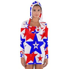 The Patriot 2 Women s Long Sleeve Hooded T-shirt by SugaPlumsEmporium