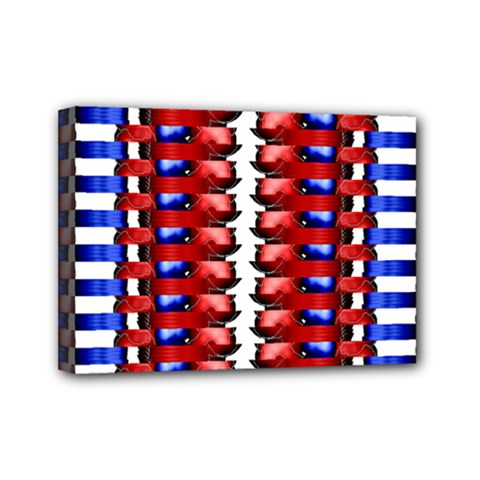 The Patriotic Flag Mini Canvas 7  X 5  by SugaPlumsEmporium