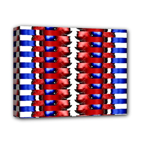 The Patriotic Flag Deluxe Canvas 14  X 11  by SugaPlumsEmporium