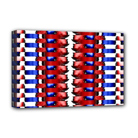 The Patriotic Flag Deluxe Canvas 18  x 12   by SugaPlumsEmporium