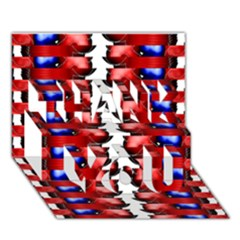 The Patriotic Flag Thank You 3d Greeting Card (7x5)  by SugaPlumsEmporium