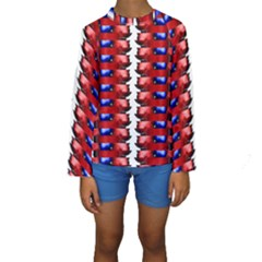 The Patriotic Flag Kid s Long Sleeve Swimwear by SugaPlumsEmporium