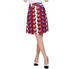 The Patriotic Flag A Line Skirt by SugaPlumsEmporium