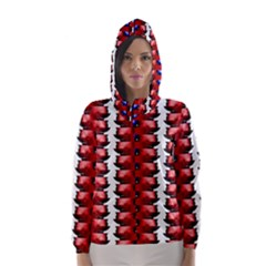 The Patriotic Flag Hooded Wind Breaker (Women) by SugaPlumsEmporium