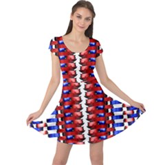 The Patriotic Flag Cap Sleeve Dresses by SugaPlumsEmporium
