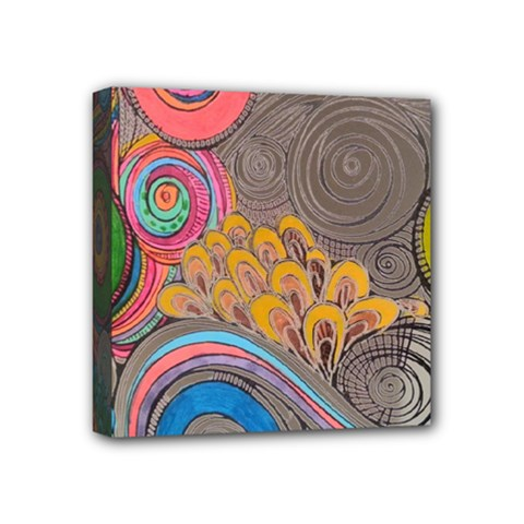 Rainbow Passion Mini Canvas 4  X 4  by SugaPlumsEmporium