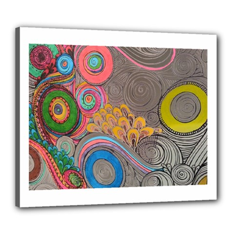 Rainbow Passion Canvas 24  x 20  by SugaPlumsEmporium