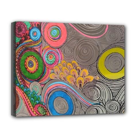 Rainbow Passion Deluxe Canvas 20  X 16   by SugaPlumsEmporium