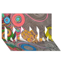 Rainbow Passion Mom 3d Greeting Card (8x4)  by SugaPlumsEmporium