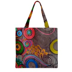 Rainbow Passion Grocery Tote Bag by SugaPlumsEmporium