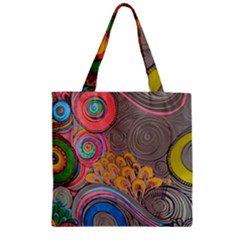 Rainbow Passion Zipper Grocery Tote Bag by SugaPlumsEmporium