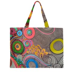 Rainbow Passion Zipper Large Tote Bag by SugaPlumsEmporium