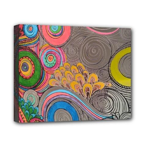 Rainbow Passion Canvas 10  X 8  by SugaPlumsEmporium