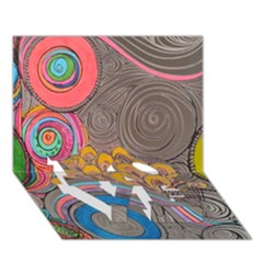 Rainbow Passion Love Bottom 3d Greeting Card (7x5)  by SugaPlumsEmporium