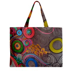 Rainbow Passion Zipper Mini Tote Bag by SugaPlumsEmporium