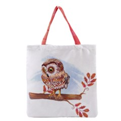 Owl Grocery Tote Bag